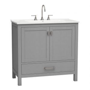 Torino 36inch vanity bottom drawer grey front view