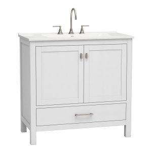 Torino 36inch vanity bottom drawer grey front view