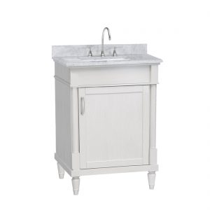 Venice 24inch Vanity White Front View