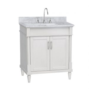 Venice 30inch Vanity White Front View