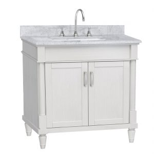 Venice 36inch Vanity White Front View