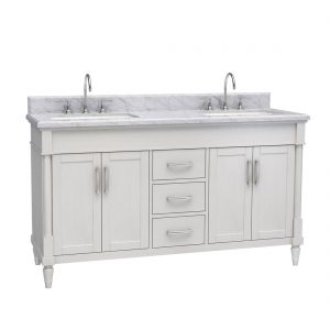 Venice 60inch Vanity White Front View