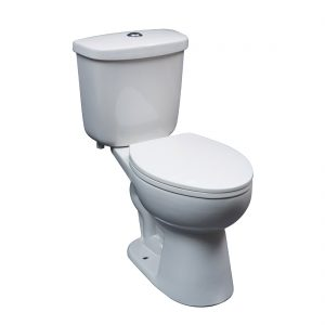 Washington Toilet 16.5inch Dual White Front View